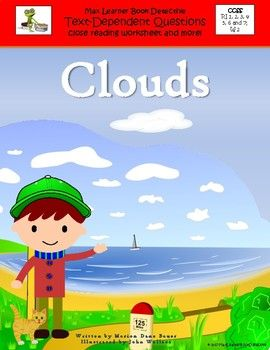 Pair Your Copy Of The Little Book Clouds By Marion Dane Bauer With Our Text Dependent Question Card To Teach About Cirrus Stratus And Cumulus