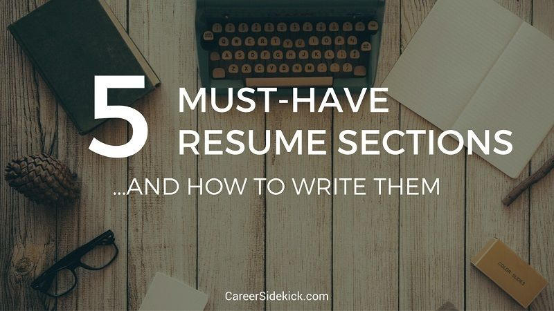 Revealed Professional resume writer shares the 5  - resume sections