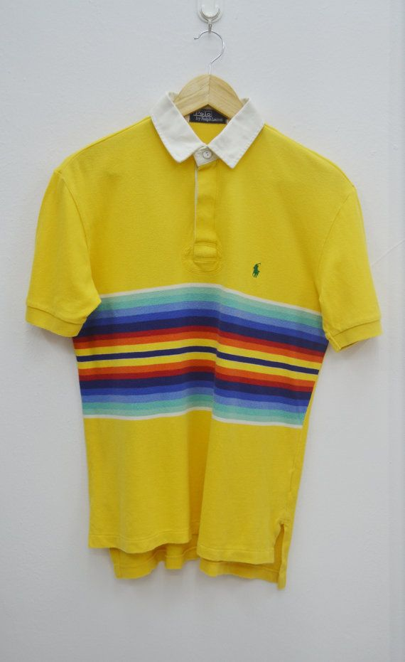 Polo Ralph Lauren Shirt Vintage Polo Ralph Lauren Multicolor Stripped Polo  Tee T Shirt Size M | Polo ralph lauren, Polos and Polo tees