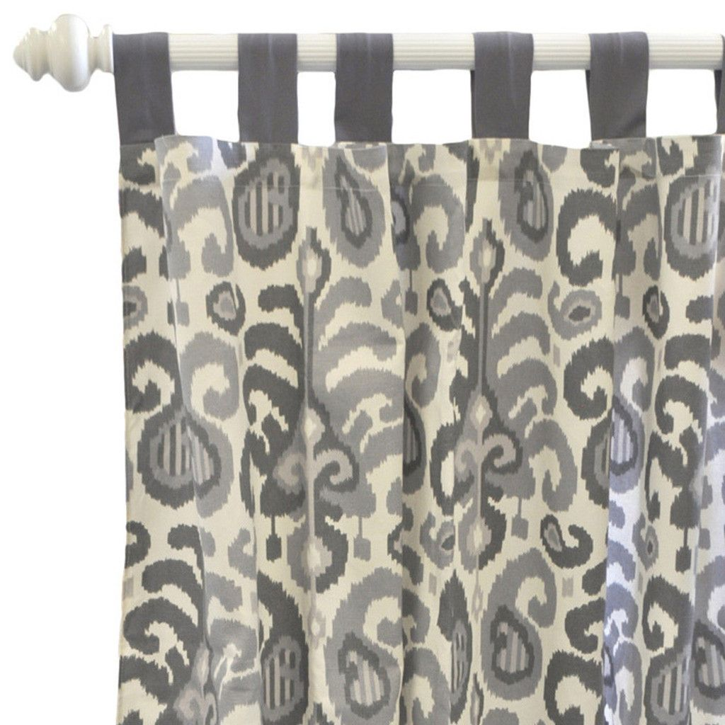 Curtain panels urban ikat in gray grey curtains and products