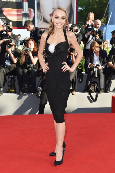 87f11b3cc17d Lily-Rose Depp in Chanel attends the premiere of  Planetarium  during the  73rd Venice Film Festival at Sala Grande on September 8