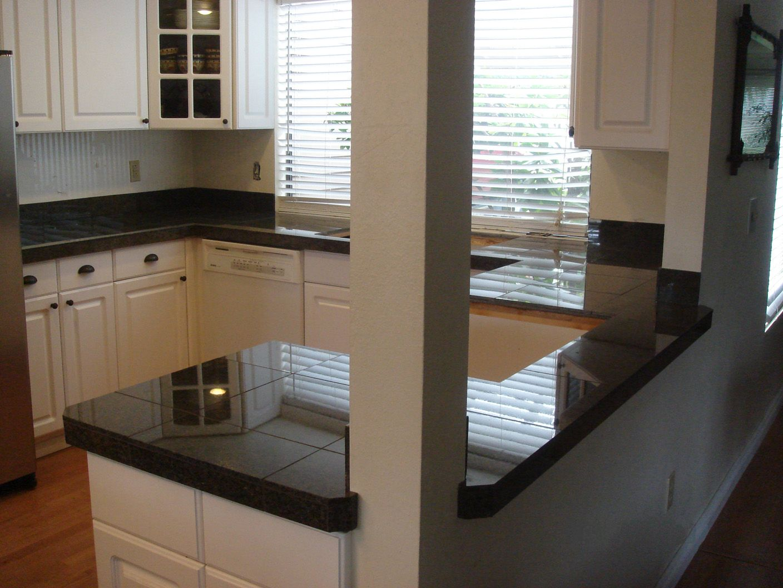 Tile Counter Tile Countertops Black Ceramic Tiles Kitchen Remodel