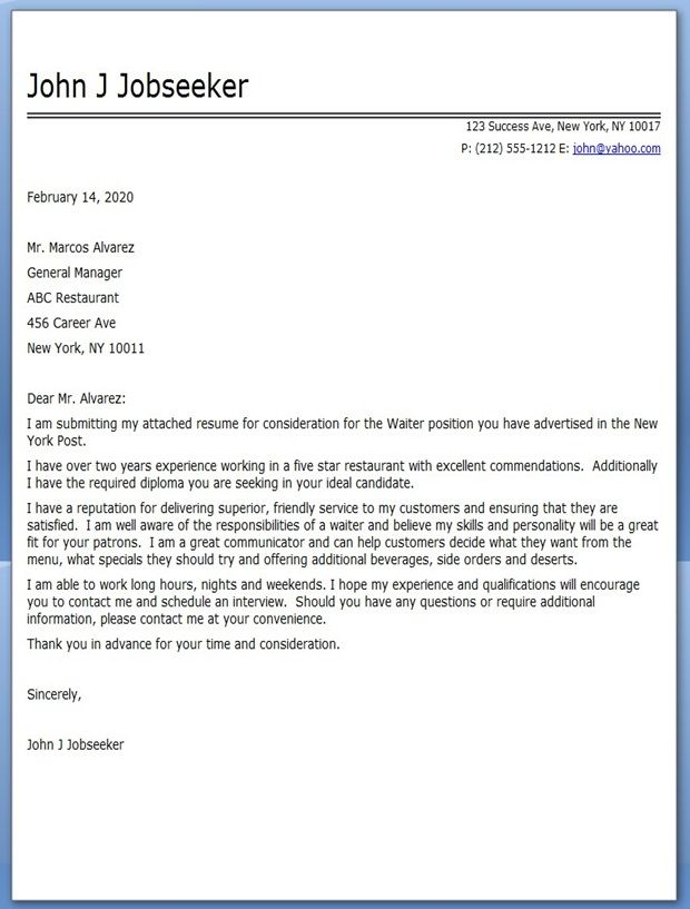 jobs cover letter - Selol-ink