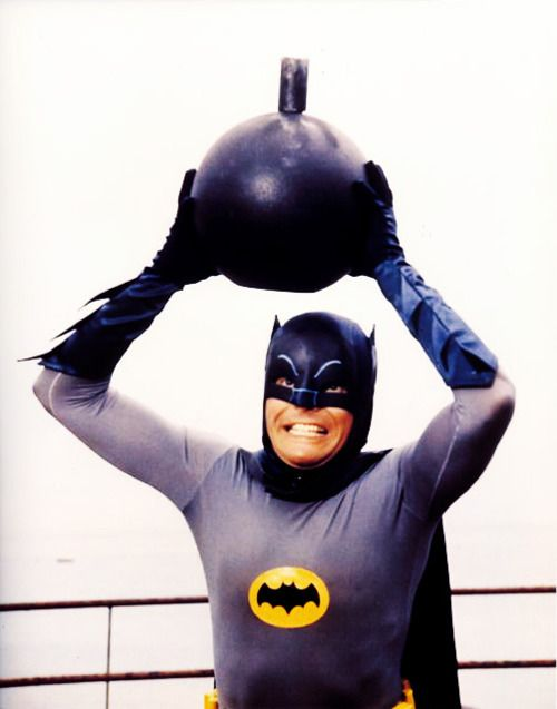Adam West a Batman, 1966-68. S)