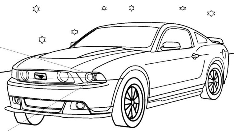 mustangs coloring pages