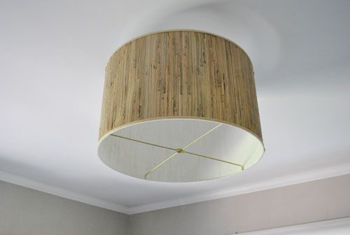 Making A Ceiling Light With A Diffuser From A Lamp Shade Closet