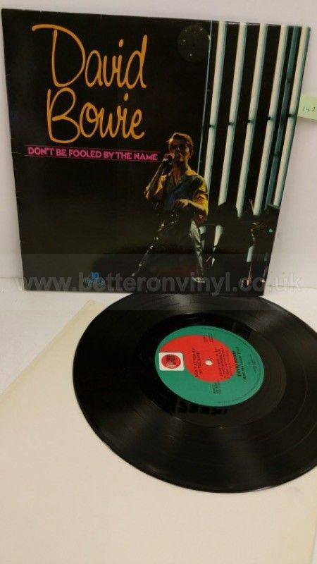 David Bowie Don T Be Fooled By The Name 10 Inch Vinyl Dow 1 David Bowie Sticker Removal The Fool