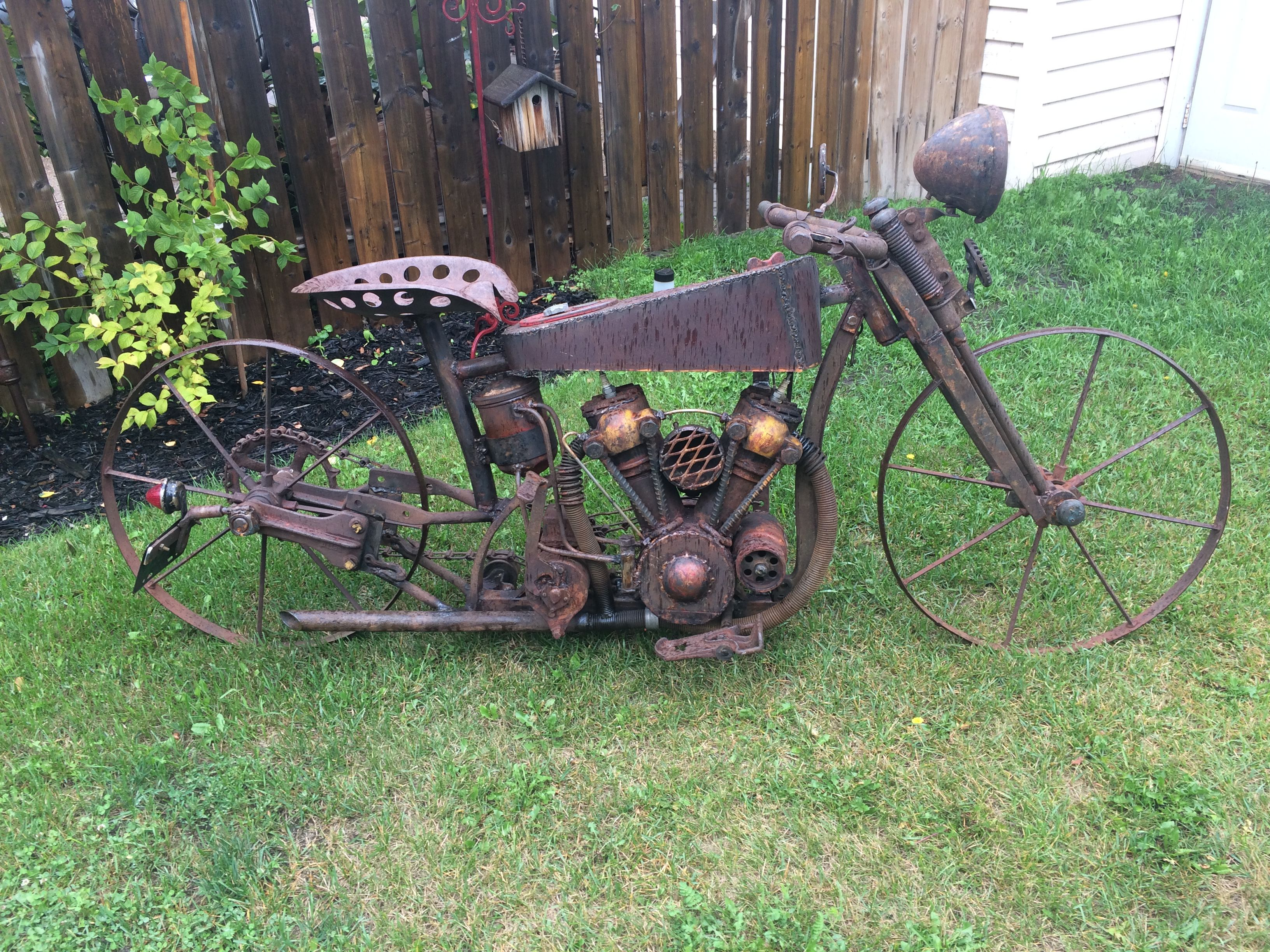 Scrap Metal Art Motorcycle By Doug Smith Junk Metal Art