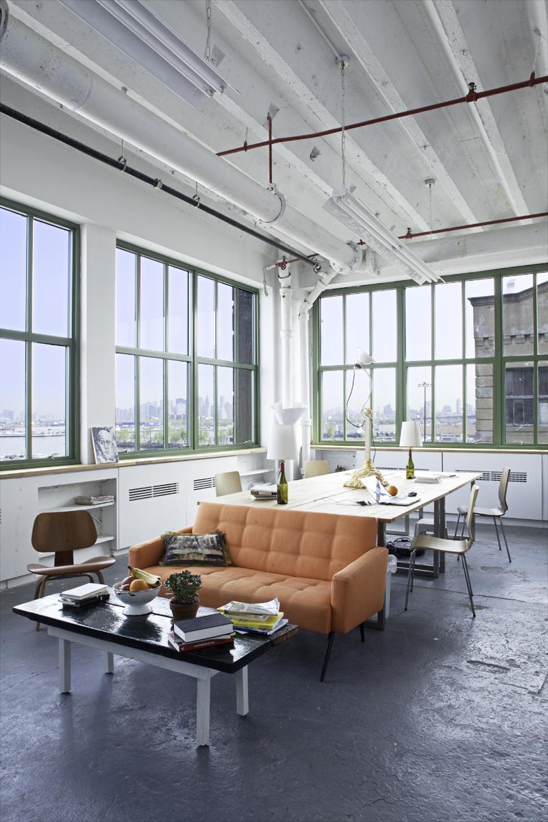 artist office. the artist\u0027s office space with views of manhattan artist