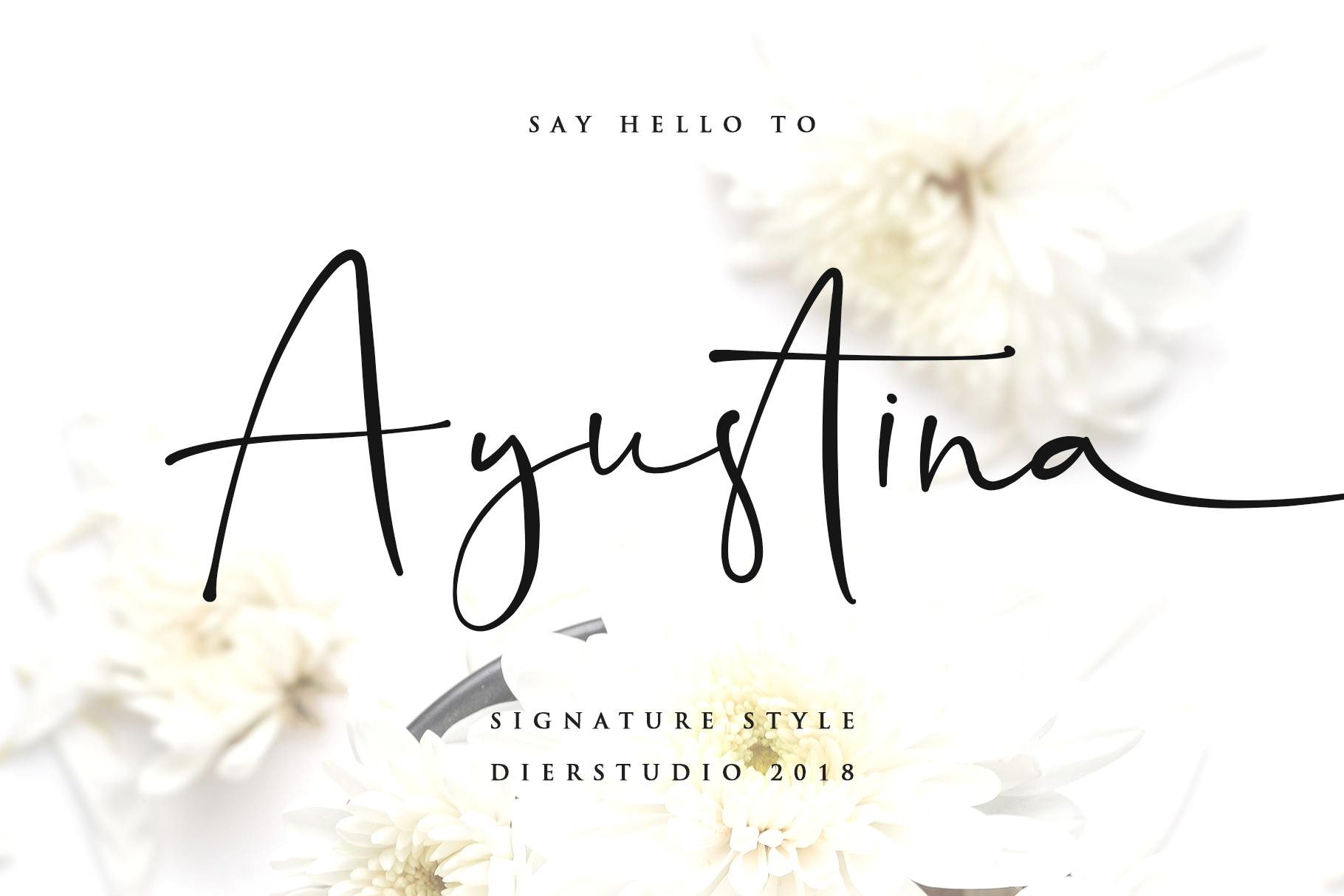 Ayustina Signature Font Free Fonts, Script