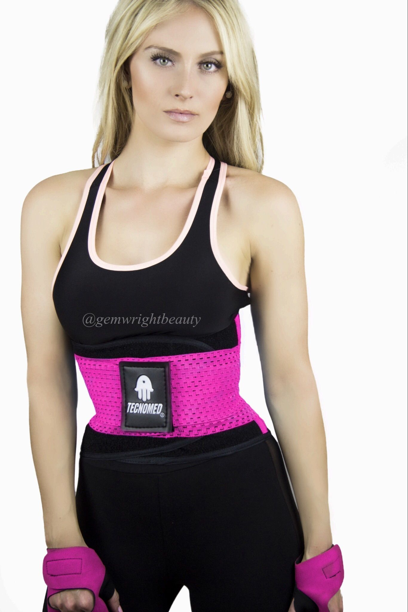 Tecnomed Fitness belt Xtreme Power Neon Pink