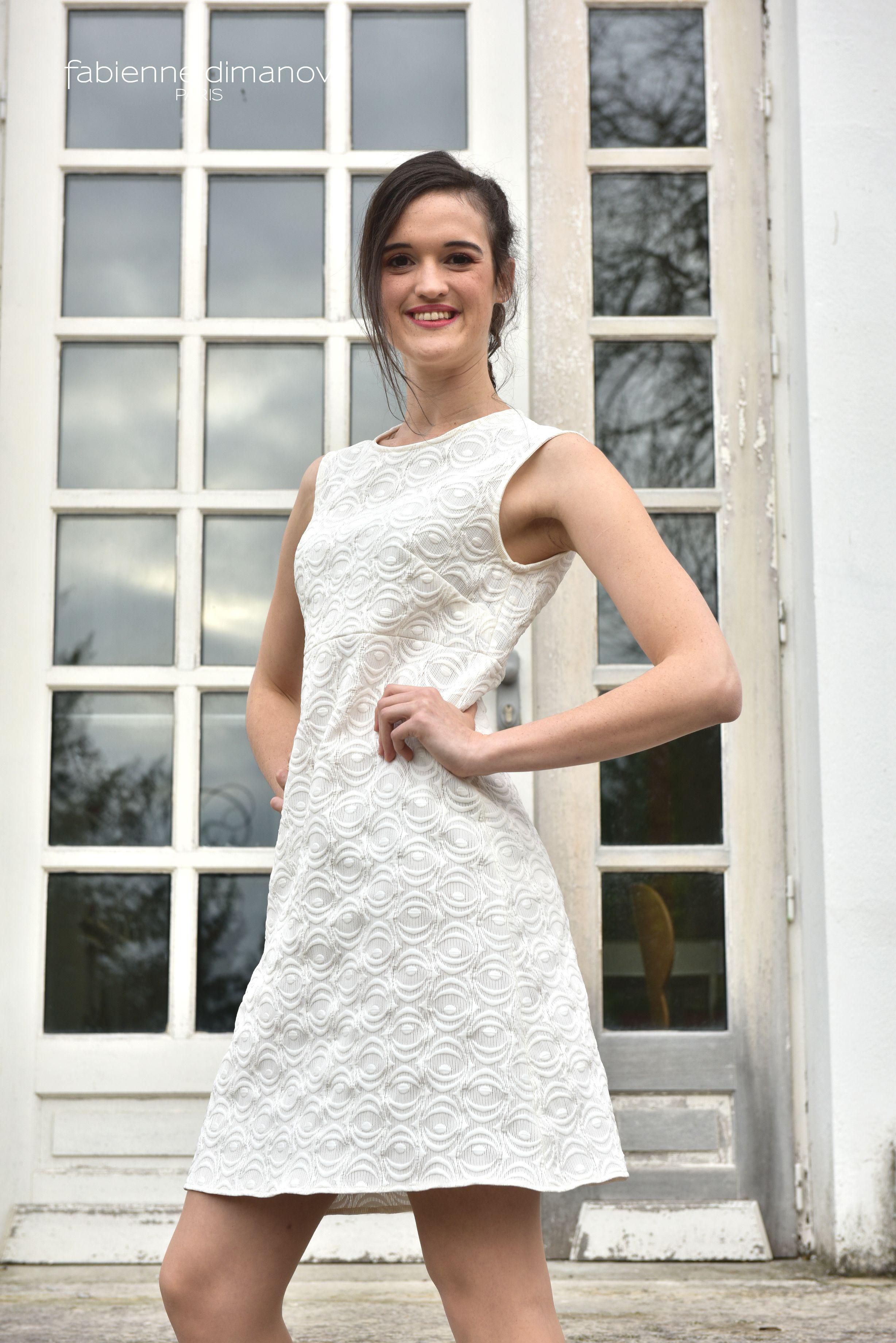5394dc95619 La petite robe trapèze Miss fab personnalisable - nouveau modèle 2018  signée Fabienne Dimanov Paris