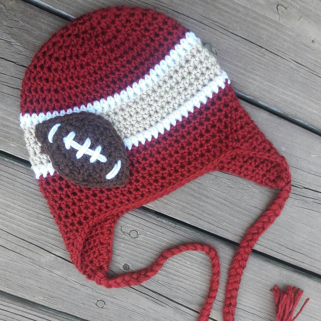 #BarnOwlCrochet #Crochet #handmade #Hat #49ers #SanFrancisco #football #NFL…