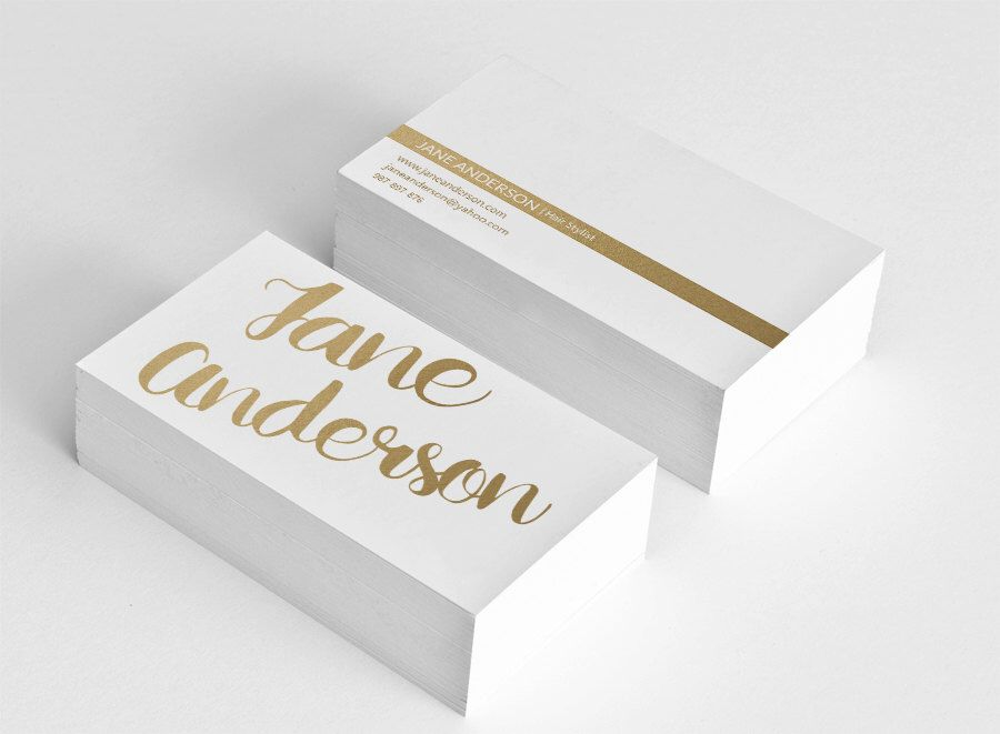 Golden business card template hair stylist business card design gold ...