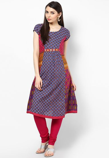 afb49b51171 Cotton Blue Kurta - Rangmanch By Pantaloons Kurtas   kurtis for women