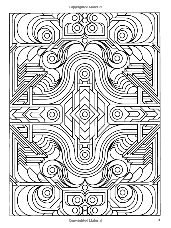 Deco Tech Geometric Coloring Book Lab333