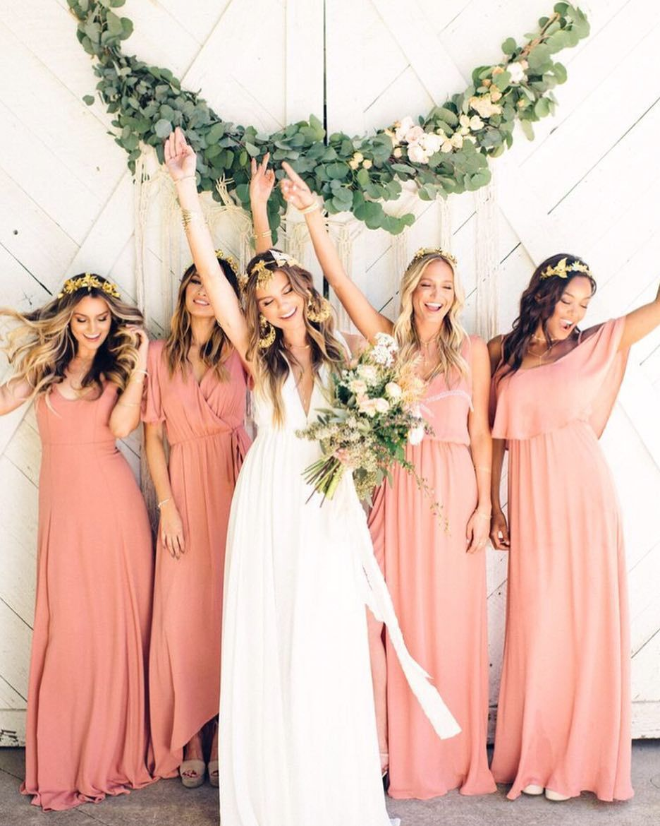 Rustic Mauve Bridesmaids #mumuweddings | :: RUSTIC WEDDING ...