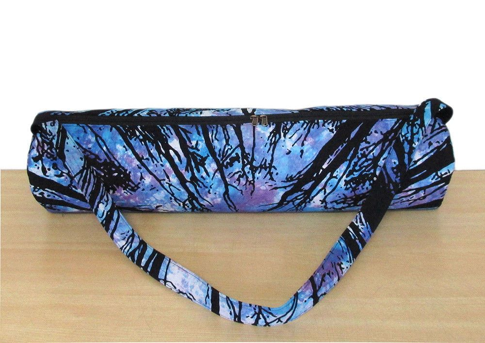 Indian Yoga Bag Tie Dye Cotton Gym Mat Carrier Beach Bags With Shoulder Strap Unbranded
