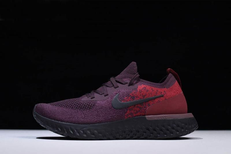 9cf0fc0e97430 Men\'s Nike Epic React Flyknit Wine Red/Dark Red-Black AT0054-600 ...