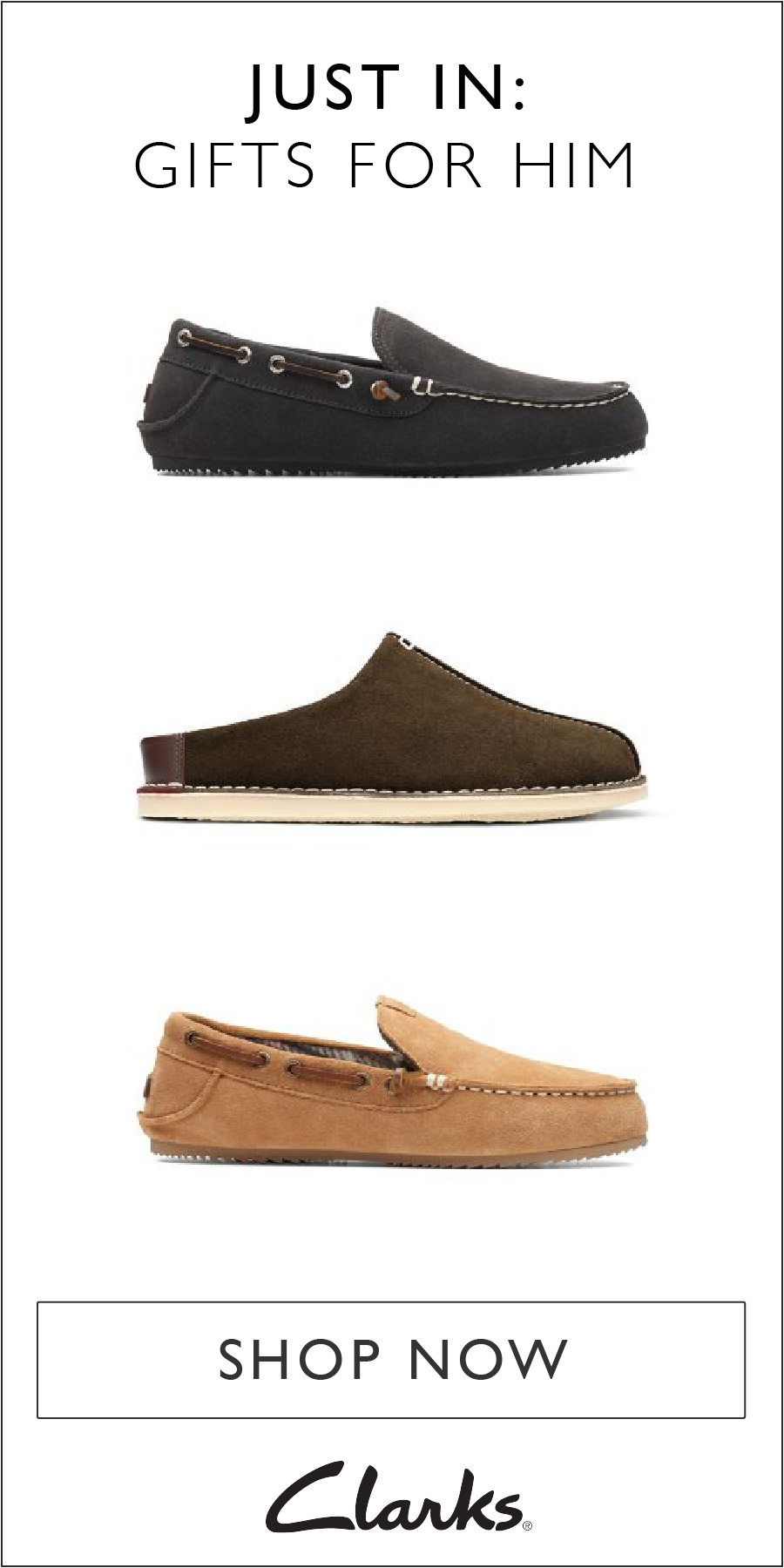 6dd82e0e4 Tis the season for cozy footwear! Step into comfort with these men s  slippers from Clarks. Whether you prefer moccasins or slides