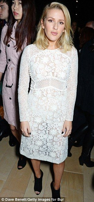 Awaiting the trends: Donna Air, Ellie Goulding and Poppy Jamie put on typically stylish di...
