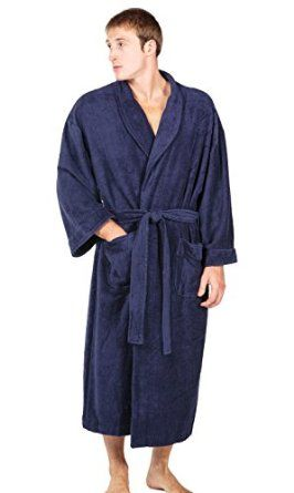Amazon.com  Men s Terry Cloth Bathrobe Robe (EcoComfort) Luxury Gifts for  Him MB0101  Mens Robes  Clothing bf8794b24