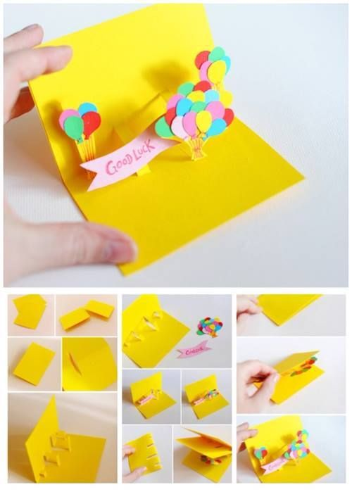Paper Craft - Good Luck This little card would make our day!