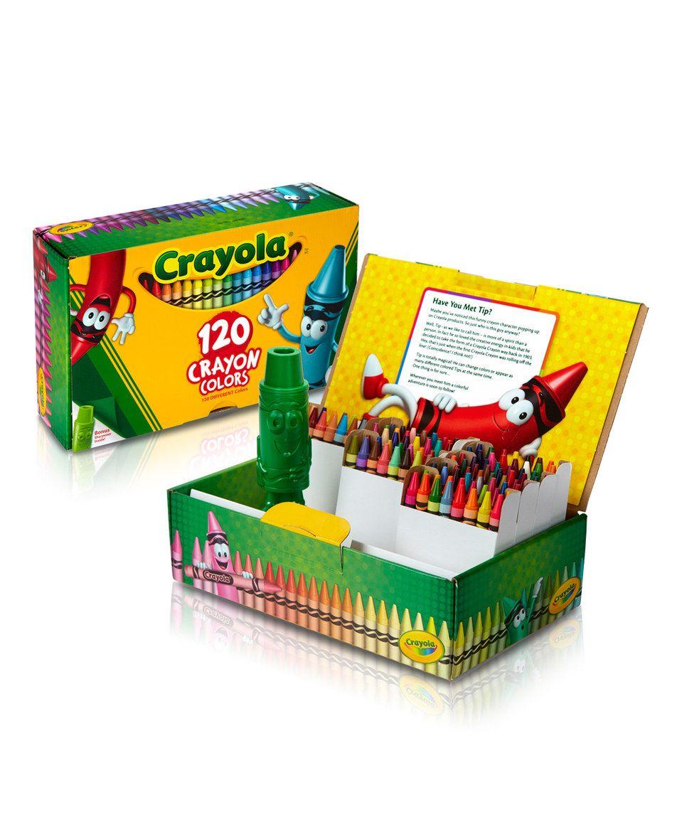 Cigar Box Crayon Set by Crayola #zulily #zulilyfinds
