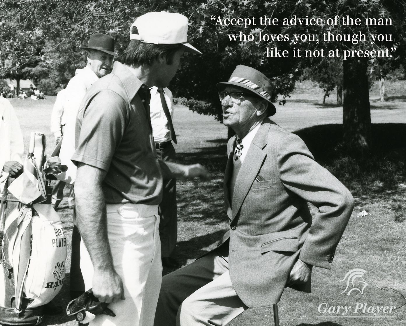 Gary Player and father Harry Player Blackest knight