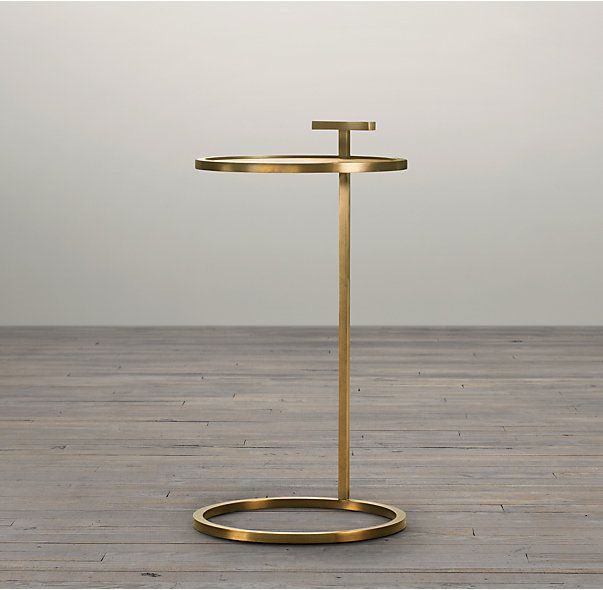 Martini Side Table rh's 1930s martini side table:our table's clean geometry reflects