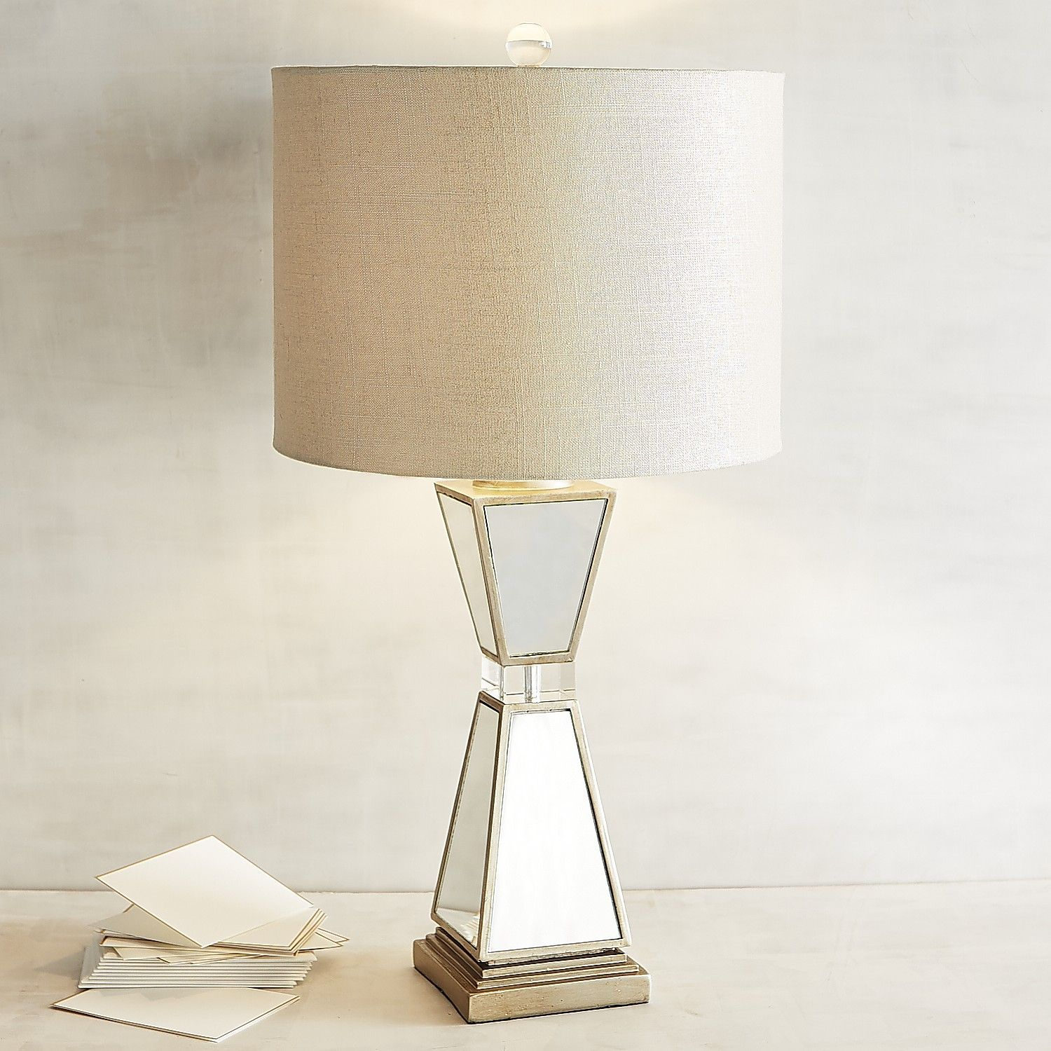 Hayworth Mirrored Table Lamp Champagne