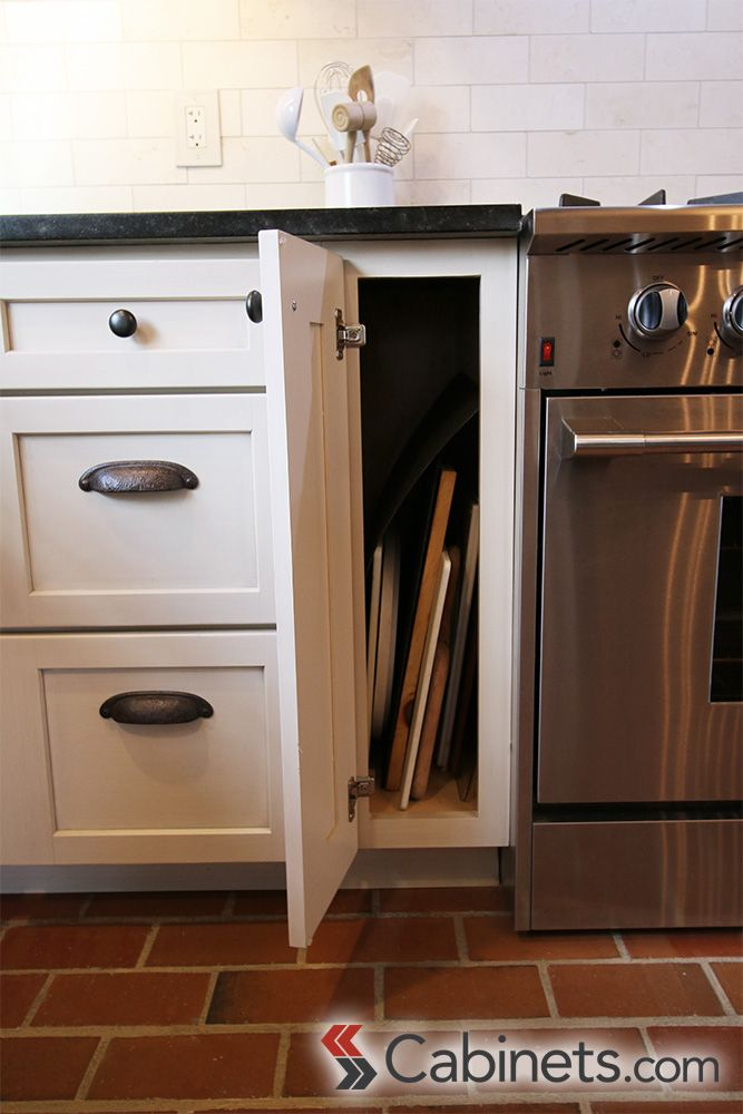 Cabinets.com Cookie sheet/cutting board storage looks like just a ...