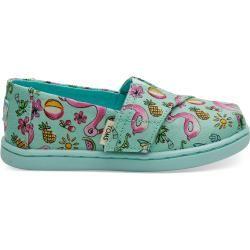 Toms Schuhe Blaue Flamingo Und Einhorn Classics Für Kleinkinder – Größe 28.5 TomsToms