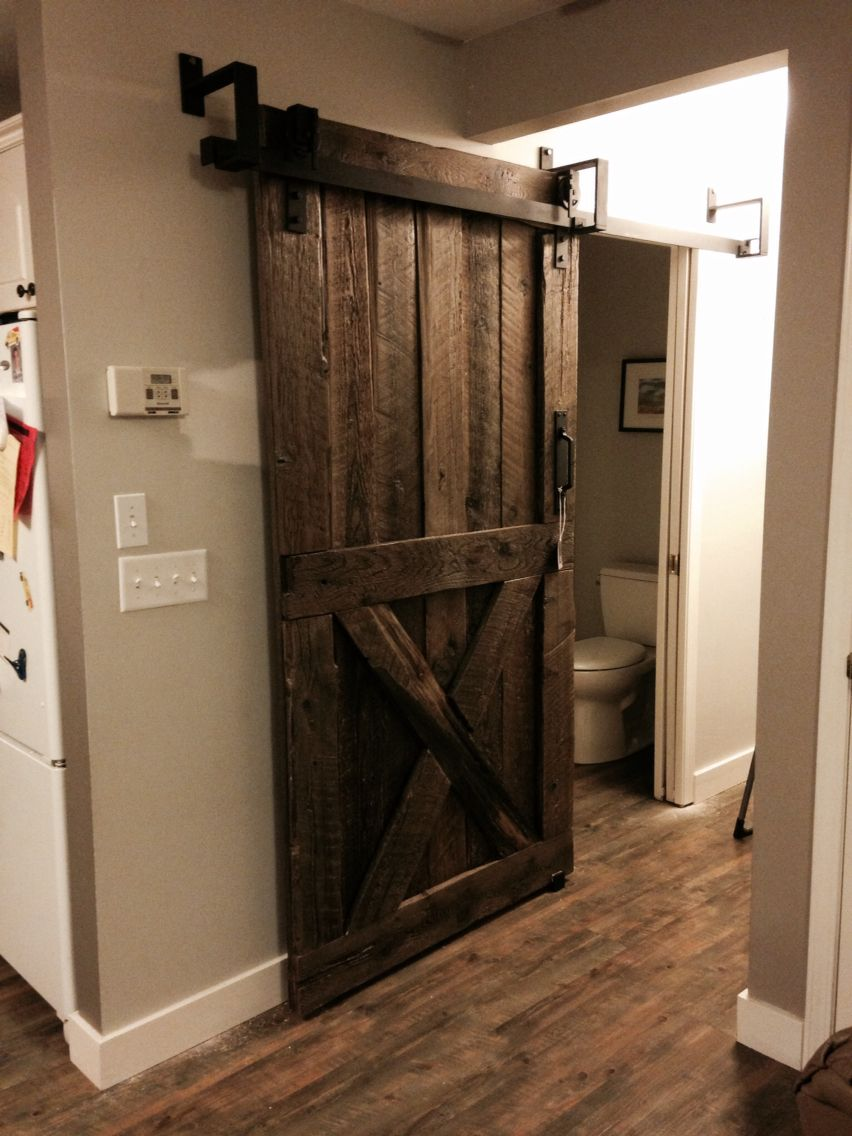 Low Overhead Barn Door Hardware Custom Designed By Goatgear In Armstrong Bc Interior Sliding
