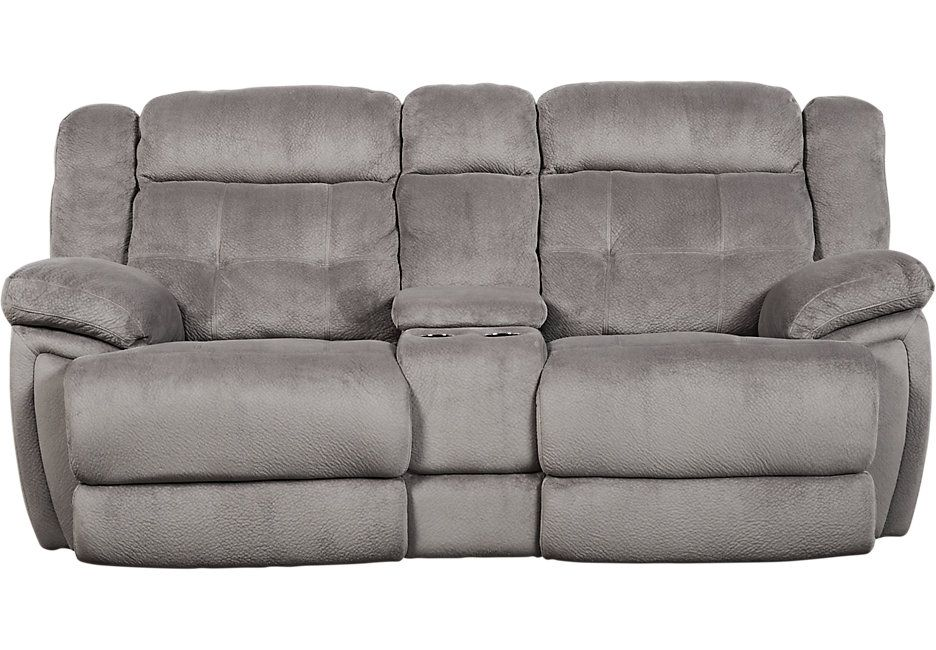 Normandy Gray Reclining Console Loveseat Recliners Gray Love Seat Grey Reclining Sofa Grey Recliner