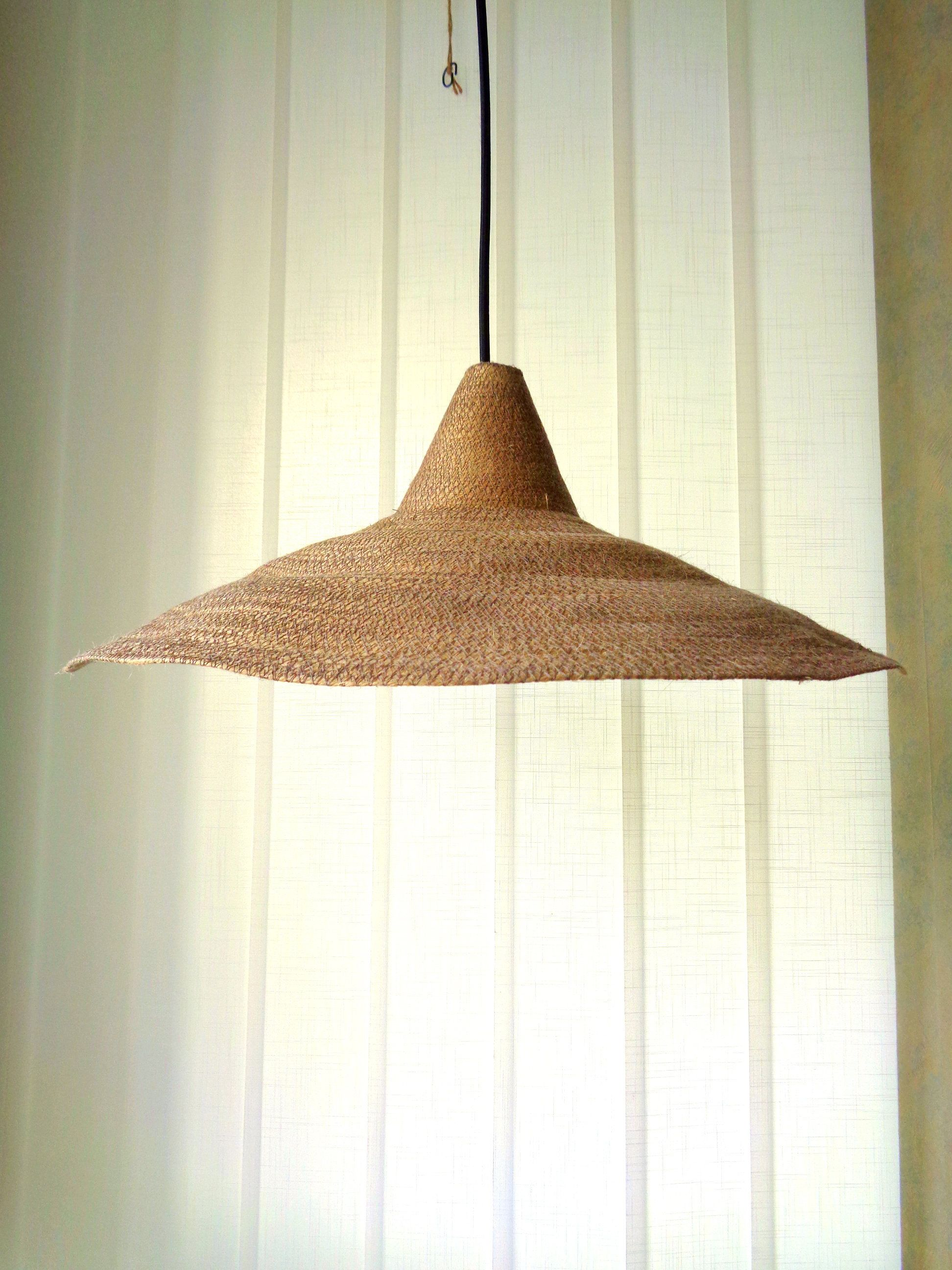 Fibers Pendant Light Large Pendant Light Burlap Pendant Light