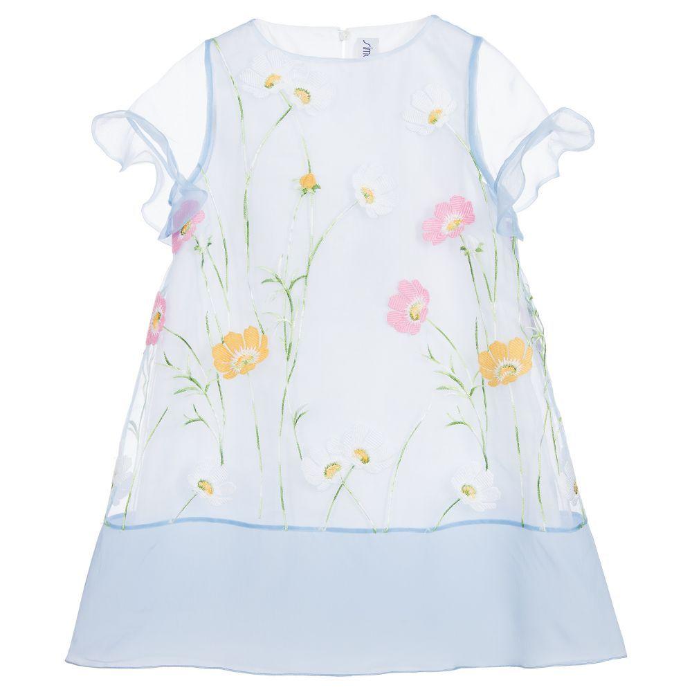 Girl blue organza dress babies