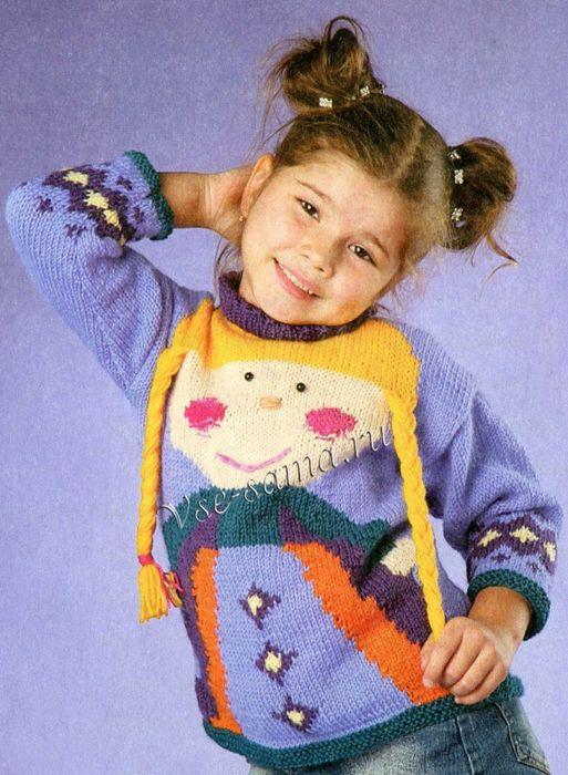 Пуловер спицами с принцессой. Обсуждение на LiveInternet - Российский Сервис Онлайн-Дневников