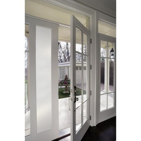 Artscape 01 0124 12 X 83 Etched Glass Design Sidelights Window Film Walmart Com French Doors Exterior French Doors Installing French Doors