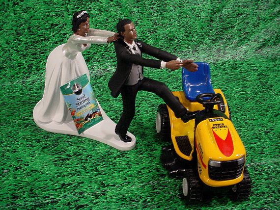 Custom-Yellow-Lawn Tractor-Garden-African by splendorlocity