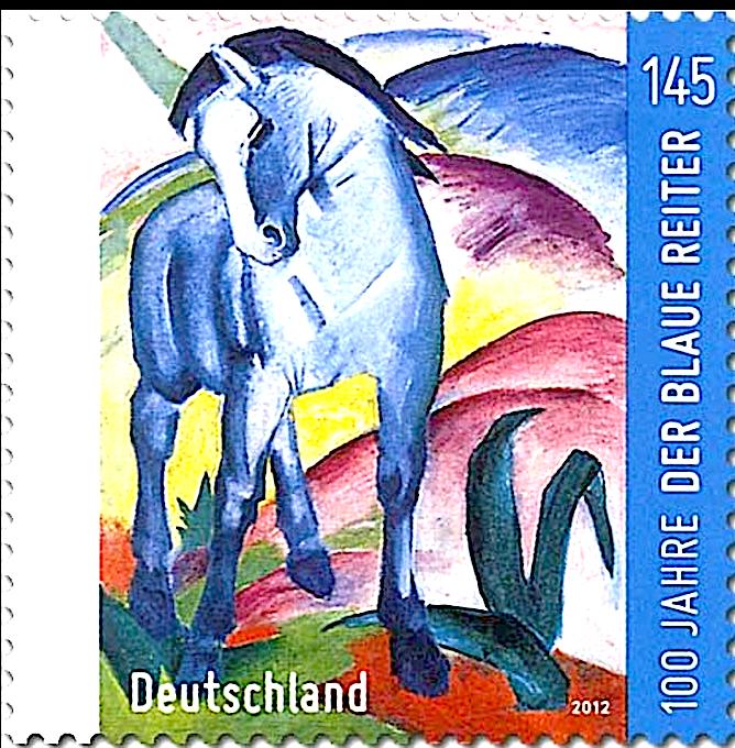 86 Franz Marc Mouvement Pictural Der Blaue Reiter Le Cavalier Bleu 27 German Art Art Stamp