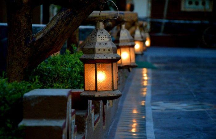 Beautiful Lamps At The Pavement Chokhi Dhani Jaipur India Chokhi
