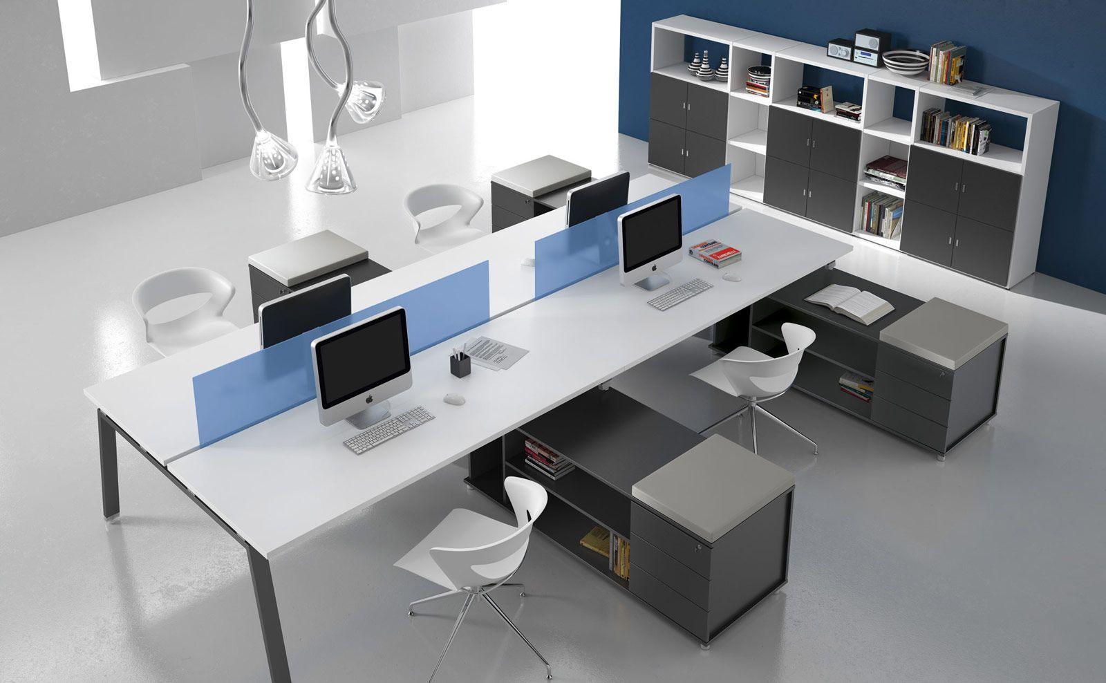Puesto de trabajo m ltiple y moderno para open space for Mi oficina directa