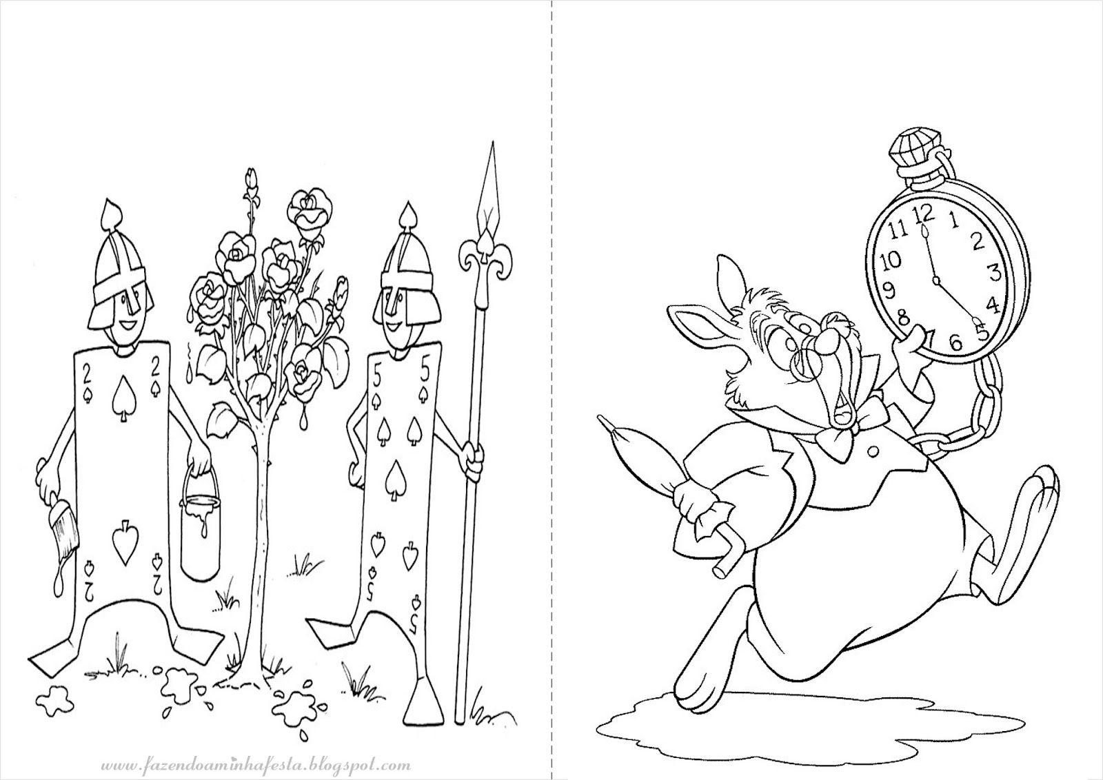 Alice No Pais Das Maravilhas Livrinho Para Colorir Alice No