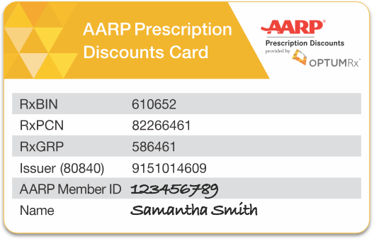 Optumrx Aarp Pharmacy Rx Discount Card Aarp Medical Prescription