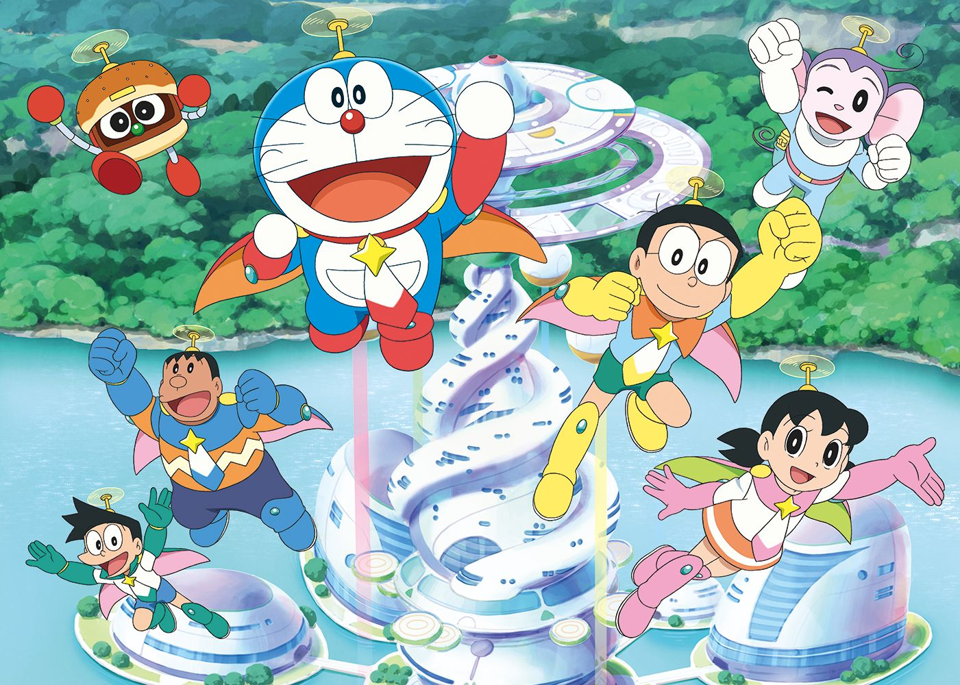 Image result for doraemon nobita space heroes Doraemon