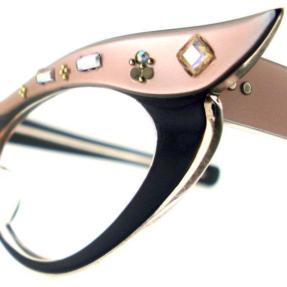 Vintage  Cat Eye Glasses Eyeglasses Sunglasses Glasses New Frame France