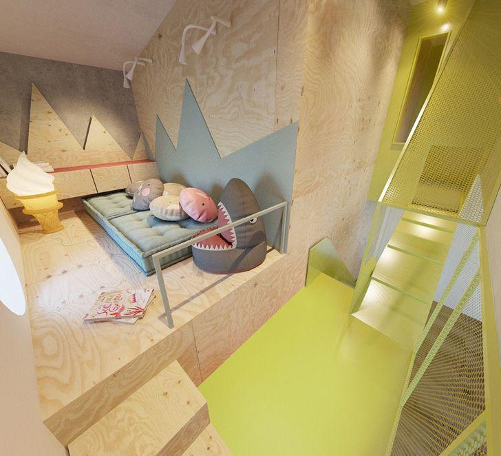Habitación infantil de diseño ¡Con tobogán incluido | Pinterest ...