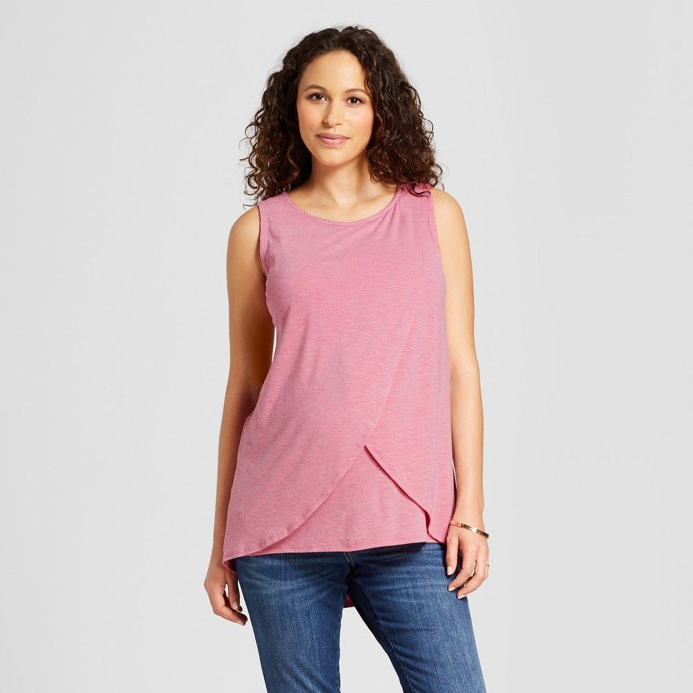 92612308eda31 Maternity Crossover Panel Nursing Top - Isabel Maternity by Ingrid & Isabel  Forever Berry XS, Red