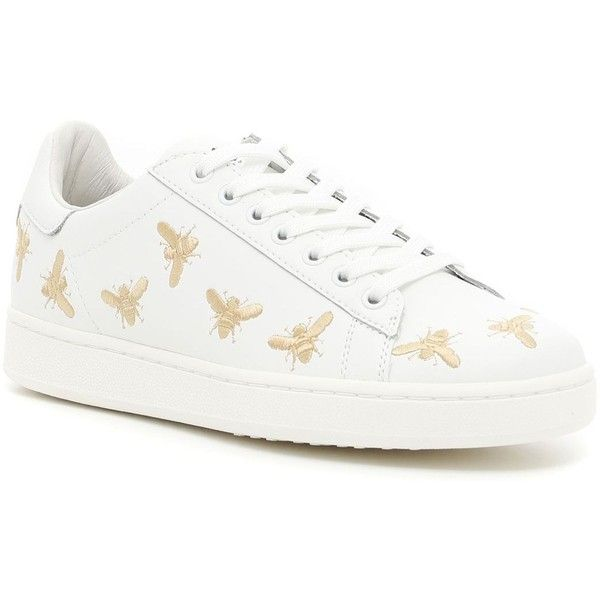 494be12a22d Sneakers With Embroidered Bees ( 156) ❤ liked on Polyvore featuring shoes